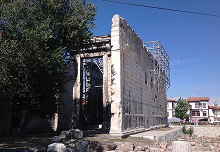 عبادتگاه آگوستوس (Temple of augustus) یکی از مکان های دیدنی آنکارا
