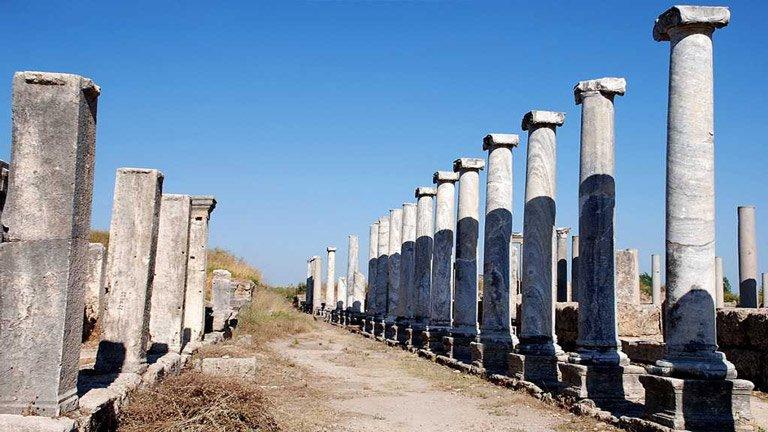 منطقه باستانی پرگه در آنتالیا