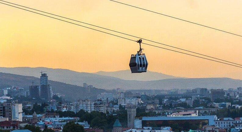 تلهکابین سواری در تفلیس (Aerial Cable Car)