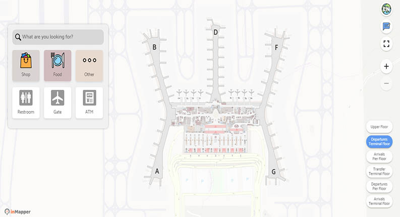 نقشه داخلی فرودگاه