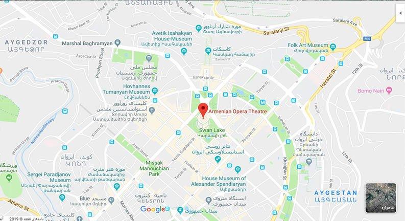 نقشه تالار اپرا ایروان