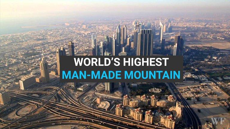 ساخت کوه مصنوعی در دبی