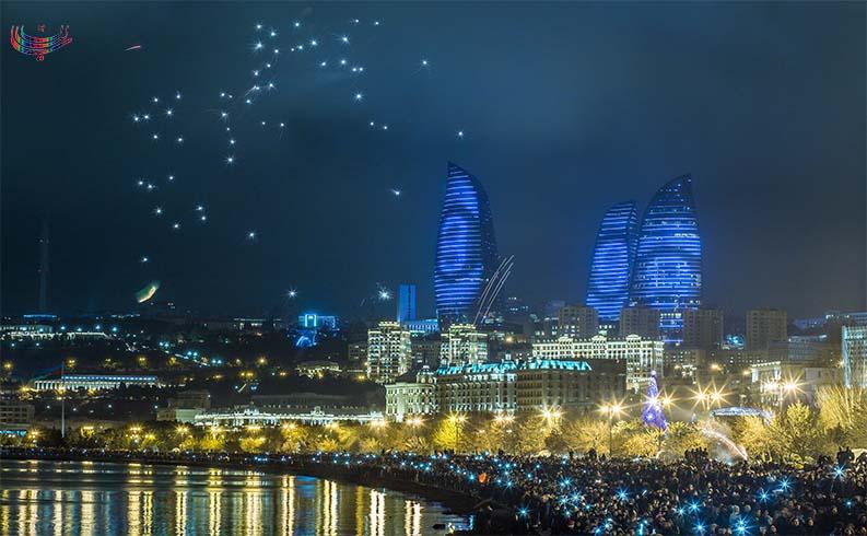 جشن بزرگ سال نو میلادی در باکو