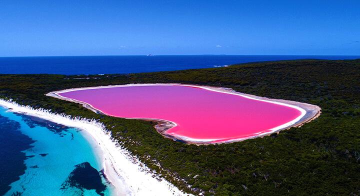 دریاچه هیلیر در استرالیا