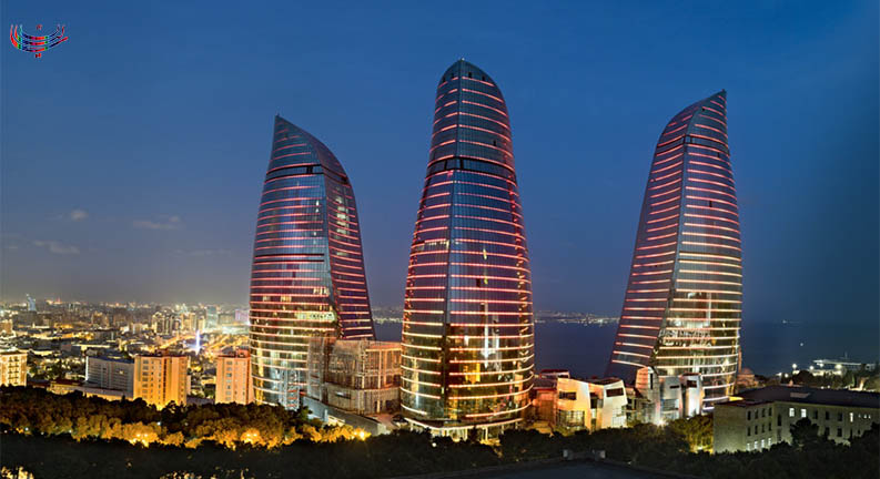 برج های شعله نمادی از شهر باکو
