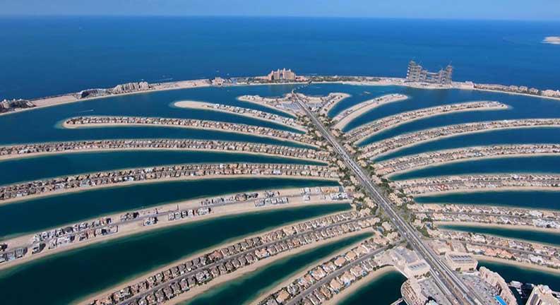 عکس جزیره نخل دبی