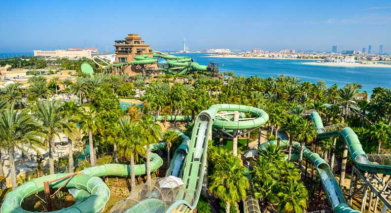 پارک آبی در جزایر نخلی دبی